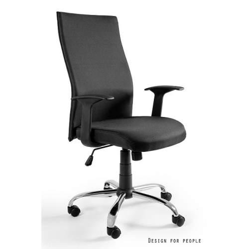 Balck on black fotel biurowy UNIQUE