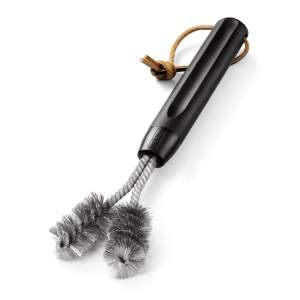 Szczotka Weber do grilla z żeliwnym rusztem, włosie ze stali szlachetnej