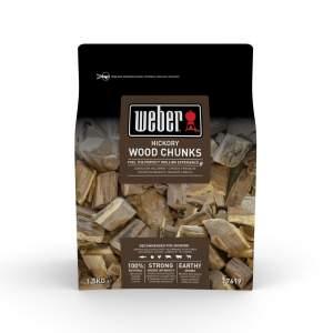 Drewienka ( wiórki ) do wędzenia Hickory Weber certyfikat FSC 1,5 kg