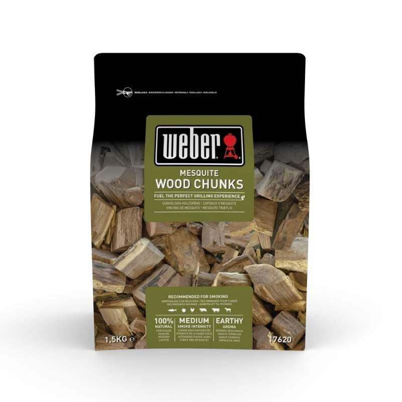 Drewienka ( wiórki ) do wędzenia Mesquite Weber certyfikat FSC 1,5 kg