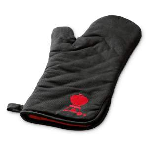 Rękawica Weber do grilla czarna z czerwonym logo