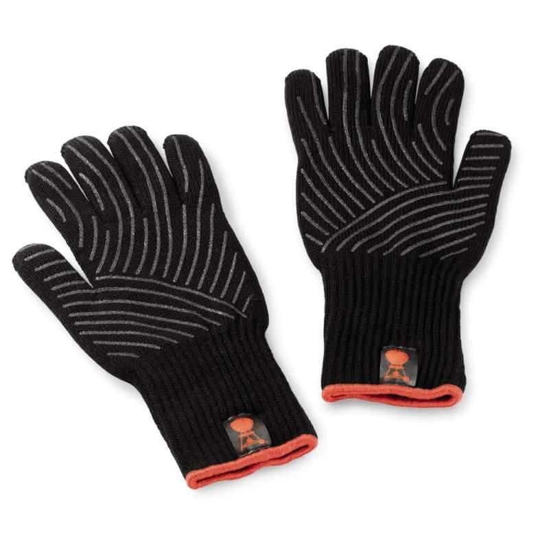 Zestaw rękawic Weber z silikonowym wzorem antypoślizgowym rozmiar S/M