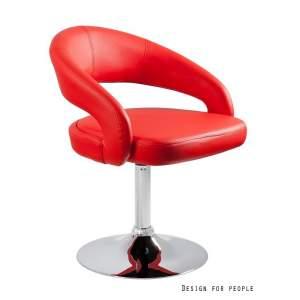 Fotel biurowy Unique Stilo czerwony