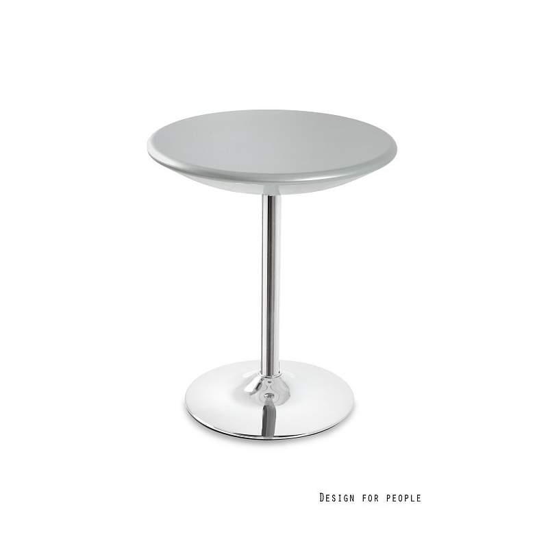 Stolik barowy UNIQUE Bistro srebrny