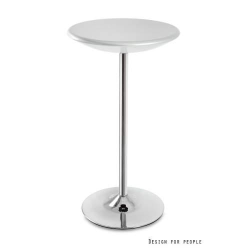 Stolik barowy UNIQUE Round srebrny
