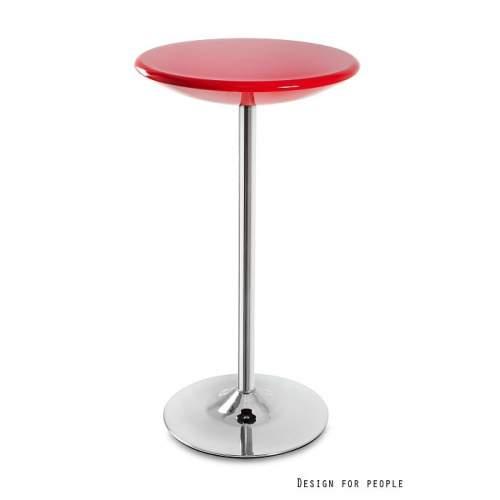 Stolik barowy UNIQUE Round czerwony