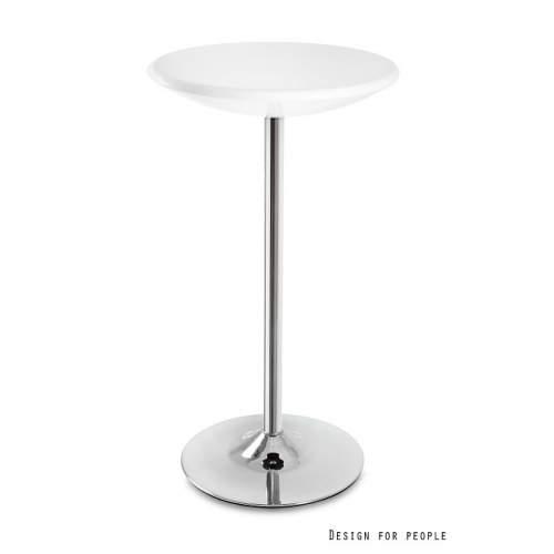 Stolik barowy UNIQUE Round biały