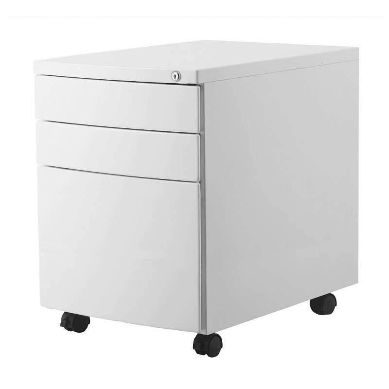 Kontener UNIQUE Rp 01B biały (3 szuflady)