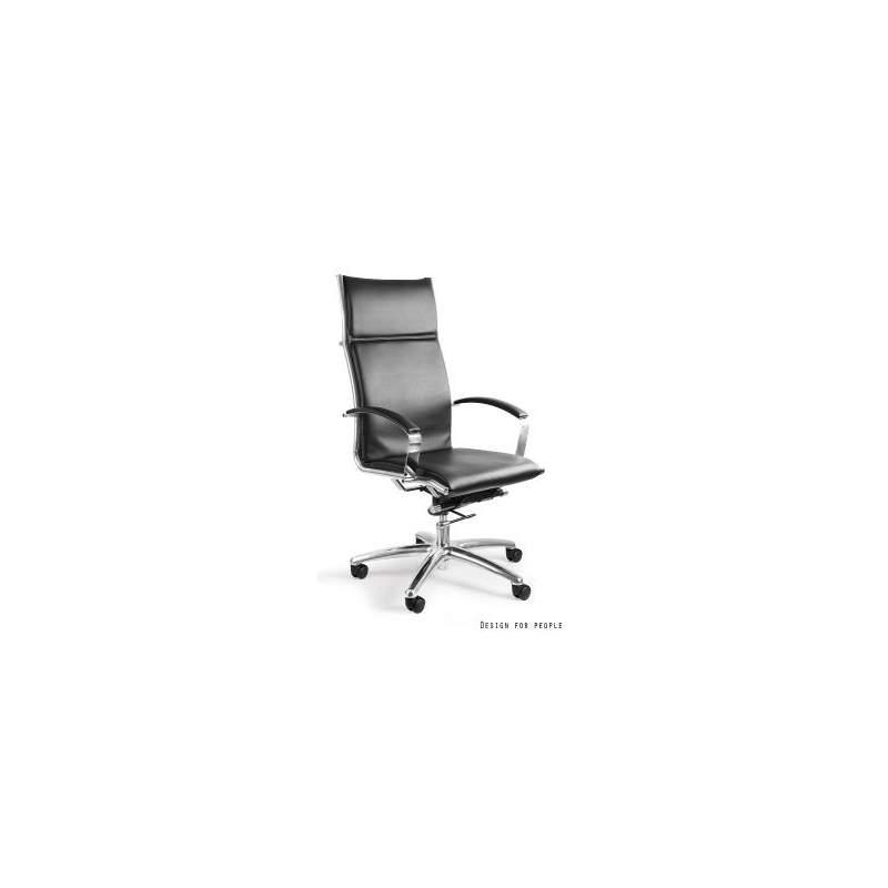 Amero fotel biurowy (skóra eko.) czarny UNIQUE