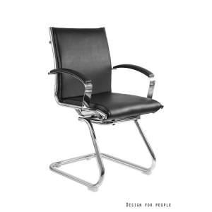 Amero Skid fotel biurowy (skóra eko.) czarny UNIQUE