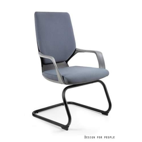 Apollo skid fotel biurowy czarny UNIQUE