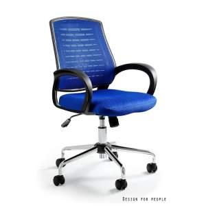 Award fotel biurowy niebieski UNIQUE