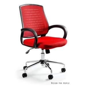 Award fotel biurowy czerwony UNIQUE
