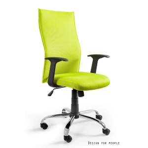 Black on black fotel biurowy zielony UNIQUE