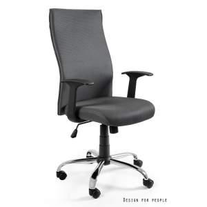 Black on black fotel biurowy szary UNIQUE