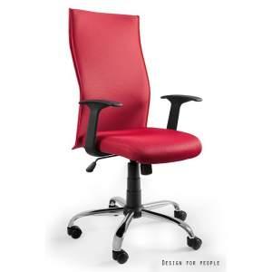 Black on black fotel biurowy czerwony UNIQUE