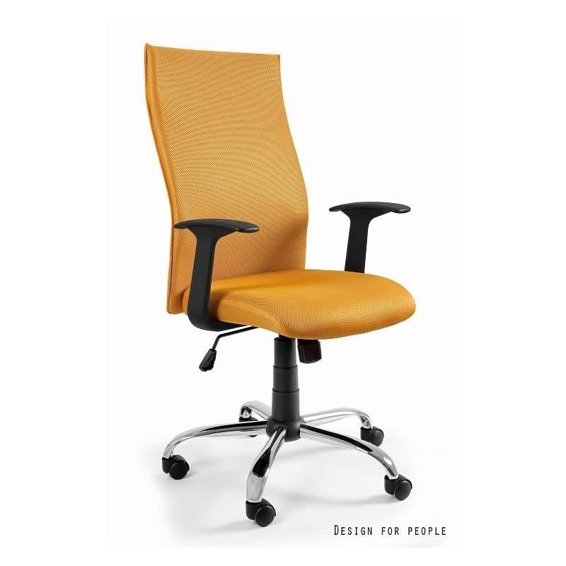 Black on black fotel biurowy żółty UNIQUE