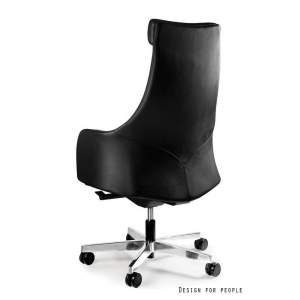 Blossom fotel biurowy (skóra eko.) czarny UNIQUE