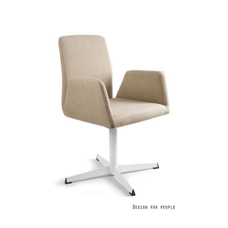 Brava fotel biurowy beżowy UNIQUE