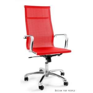 Drafty fotel biurowy czerwony UNIQUE