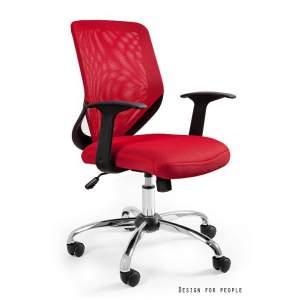 Mobi fotel biurowy czerwony UNIQUE