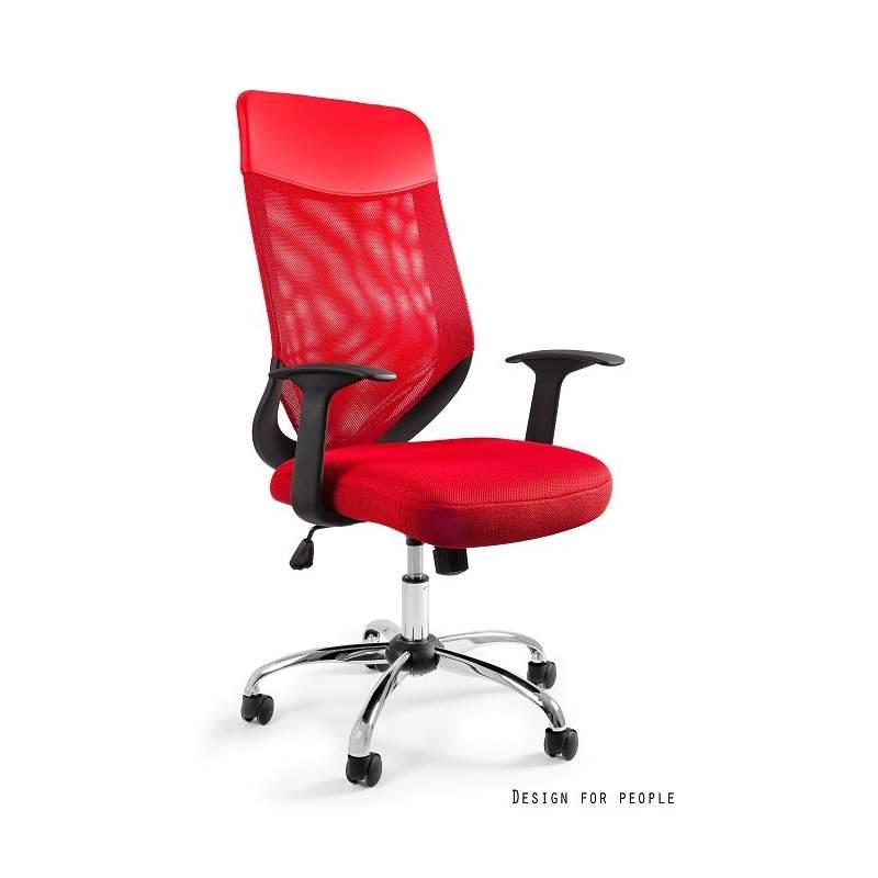 Mobi plus fotel biurowy czerwony UNIQUE