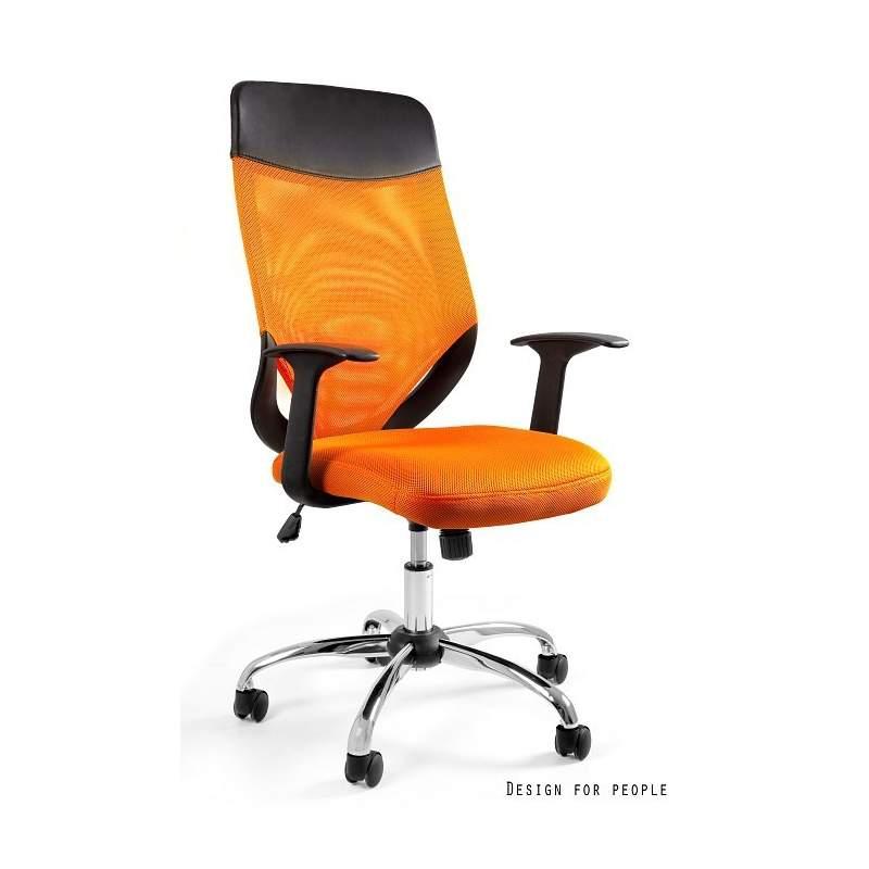 Mobi plus fotel biurowy pomarańczowy UNIQUE