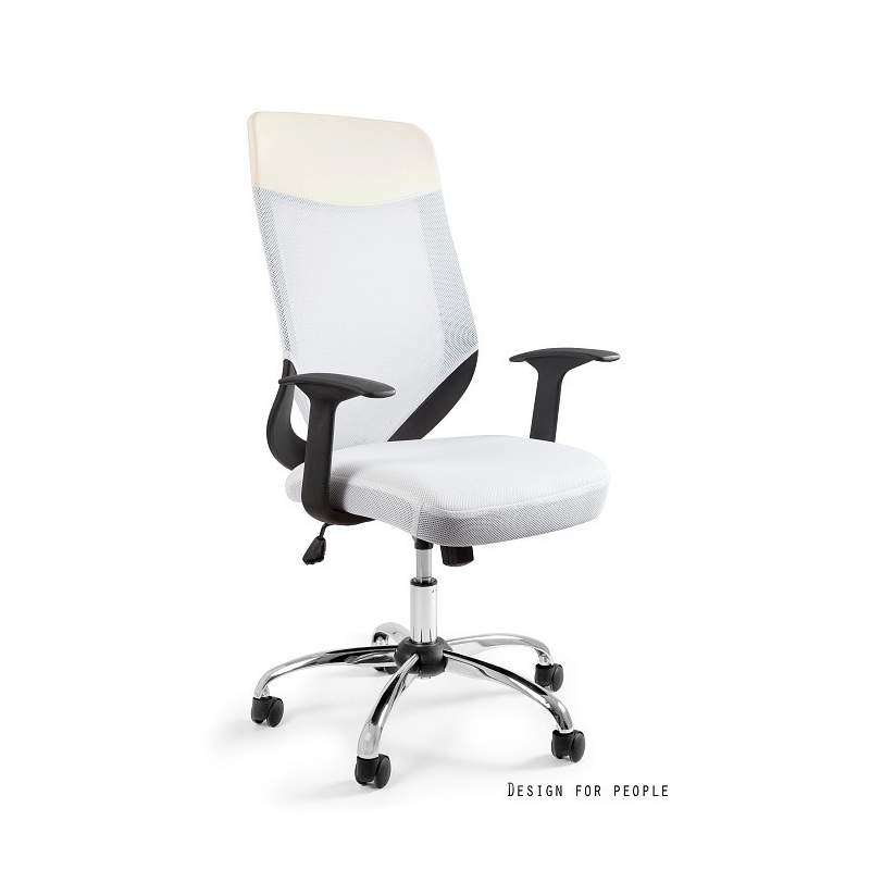 Mobi plus fotel biurowy biały UNIQUE
