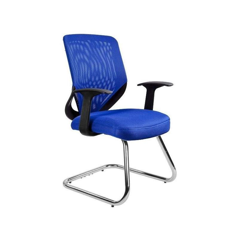 Mobi skid fotel biurowy niebieski UNIQUE