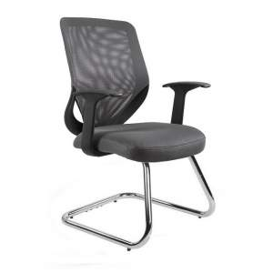 Mobi skid fotel biurowy szary UNIQUE