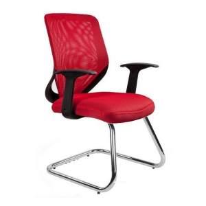 Mobi skid fotel biurowy czerwony UNIQUE