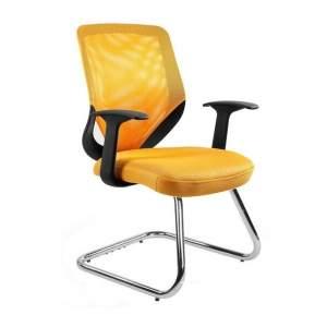 Mobi skid fotel biurowy żółty UNIQUE