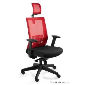 Nez fotel biurowy czerwony UNIQUE
