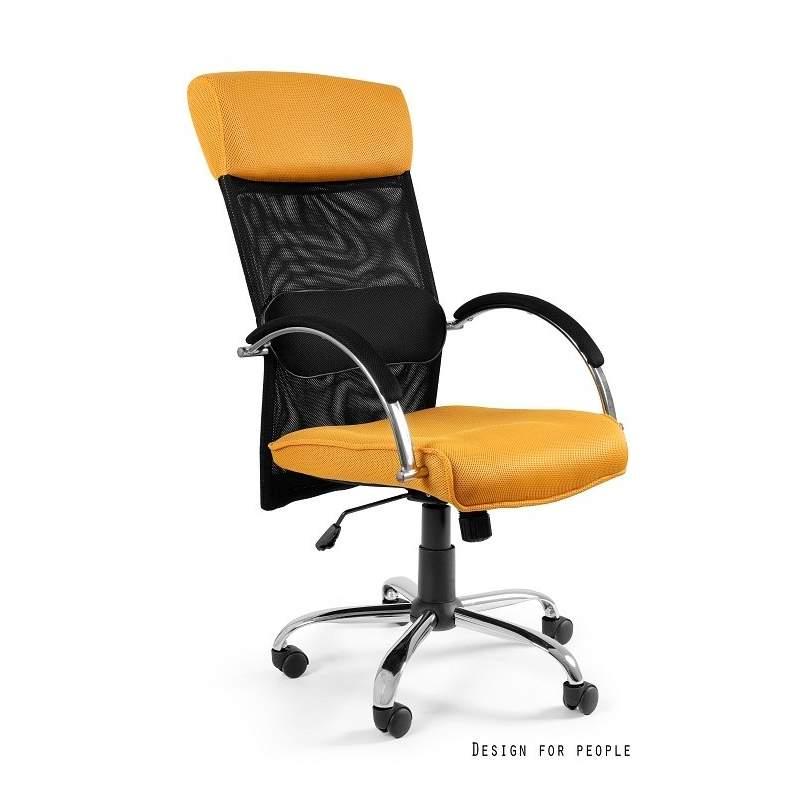 Overcross fotel biurowy żółty UNIQUE
