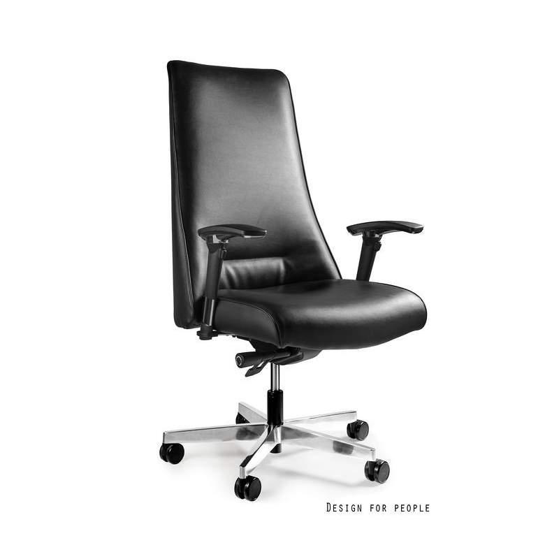 Sail fotel biurowy (skóra eko.) czarny UNIQUE