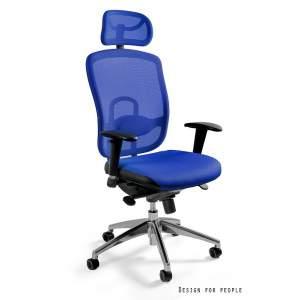 Vip fotel biurowy niebieski UNIQUE