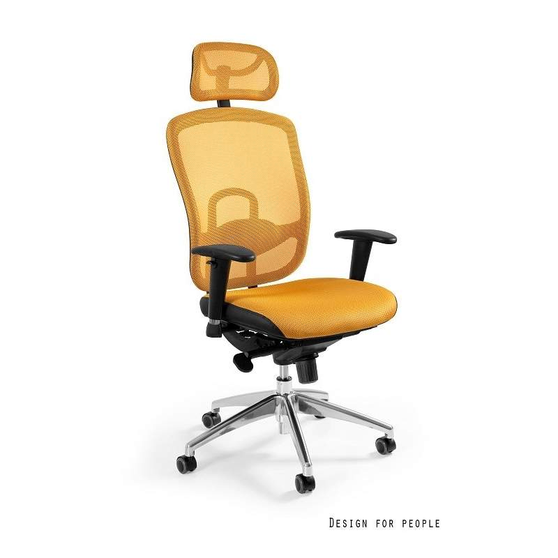 Vip żółty fotel biurowy UNIQUE