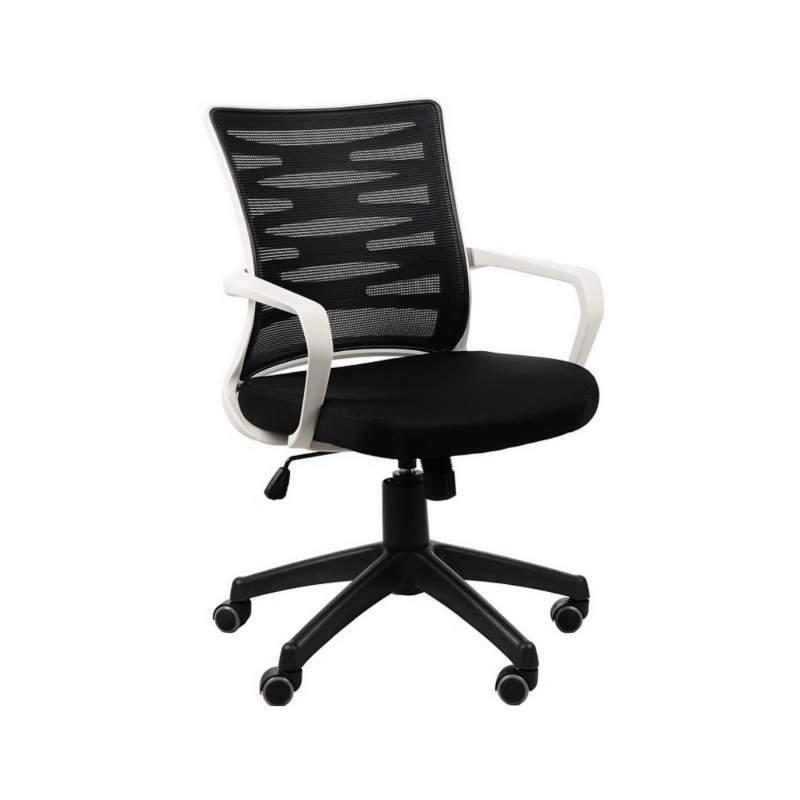 Fotel biurowy Sit Plus Flexy biały/czarny