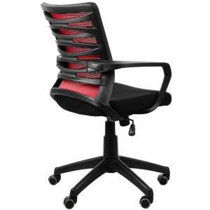 Fotel biurowy Sit Plus Flexy czarny/czerwony