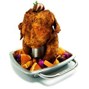 Broil King- Stojak do kurczaka z brytfanną