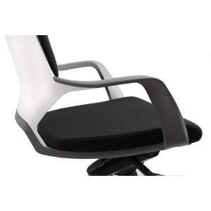 Apollo fotel biurowy czarno - biały UNIQUE